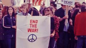 Manifestation anti-guerre du Vietnam aux Etats-Unis.