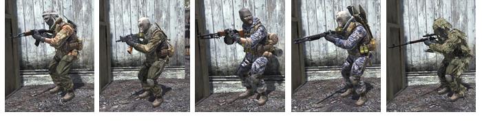 Les tenues de CoD4 étaient différentes selon la classe d'arme utilisée
